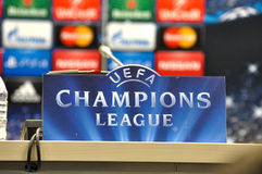 UEFA kämpar för ligan Royaltyfria Bilder