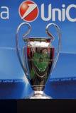 Uefa kämpar för ligatrofén Royaltyfria Foton