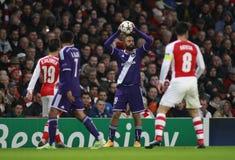 UEFA-Meister-Liga-Arsenal V Anderlecht Stockbild