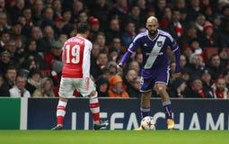UEFA-Meister-Liga-Arsenal V Anderlecht Lizenzfreie Stockfotos