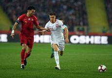 UEFA Nations League Poland - Portugal royalty free stock photography