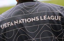 UEFA Nations League: Ukraine - Slovakia royalty free stock image