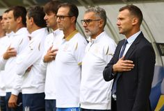 UEFA Nations League: Ukraine - Slovakia stock image