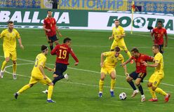 Free UEFA Nations League: Ukraine - Spain Stock Image - 199053291