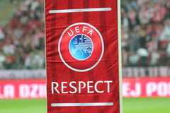 UEFA Respect Royalty Free Stock Images