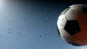 UEFA Soccer ball intro stock footage