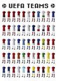 UEFA-teams Stock Afbeeldingen