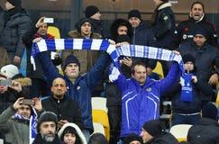 UEFA verdedigt de Dynamo Kyiv v van het Ligaspel FC Besiktas Royalty-vrije Stock Foto's