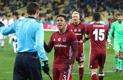 UEFA verdedigt de Dynamo Kyiv v van het Ligaspel FC Besiktas Royalty-vrije Stock Foto