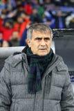UEFA verdedigt de Dynamo Kyiv v van het Ligaspel FC Besiktas Royalty-vrije Stock Afbeelding