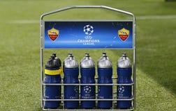 UEFA verdedigt Liga: Shakhtar Donetsk v Rome Stock Afbeelding