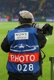 UEFA verdedigt Liga: Shakhtar Donetsk v Rome Royalty-vrije Stock Fotografie