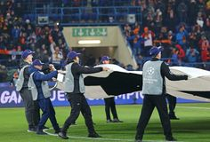 UEFA verdedigt Liga: Shakhtar Donetsk v Rome Royalty-vrije Stock Foto's