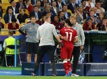 UEFA verdedigt Ligadef. 2018 Real Madrid v Liverpool Royalty-vrije Stock Fotografie