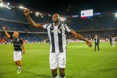 UEFA verdedigt Ligagelijke tussen PAOK versus Bazel dat bij St wordt gespeeld stock afbeeldingen