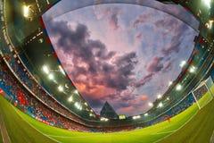 UEFA verficht Ligaspiel zwischen PAOK gegen Basel spielte an St. Lizenzfreie Stockfotografie