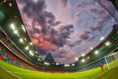 UEFA verficht Ligaspiel zwischen PAOK gegen Basel spielte an St. Lizenzfreie Stockfotos