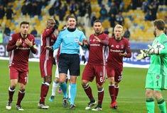 UEFA verficht Punktspiel-FC Dynamo Kyiv V Besiktas Lizenzfreie Stockfotos