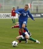 UEFA-WEIBLICHE FUSSBALL-MEISTERSCHAFT 2009, ITALY-HUNGARY Stockfotografie