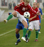 UEFA-WEIBLICHE FUSSBALL-MEISTERSCHAFT 2009, ITALY-HUNGARY Lizenzfreies Stockfoto