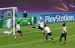 UEFA Women's Champions League Final 2018: Olympique Lyonnais t Royalty Free Stock Image