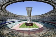 UEFA Wstawia si? Liga Baku stadium Olimpijski finał 2019 Coupe Uefa Europa League 2019 Definitywna filiżanka po środku fotografia royalty free