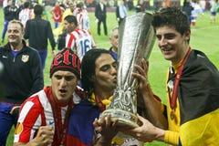 UEFAeuropa-Liga abschließendes Bucharest 2012 Lizenzfreies Stockfoto
