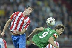 UEFAeuropa-Liga abschließendes Bucharest 2012 Lizenzfreie Stockbilder
