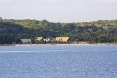 Uembje盐水湖-比莱尼-莫桑比克 库存照片