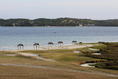 Uembje Lagoon - Bilene - Mozambique. Bilene, also known as Praia do Bilene, is a town in southern Mozambique. It is known as a beach resort, lying on the Stock Images