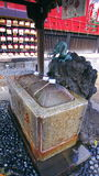 Ueno Holy Water Shrine. A shot of a shrine in Ueno where you can cleanse your self with holy water Stock Image