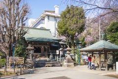 UENO, JAPÃO - 19 DE FEVEREIRO DE 2016: Santuário de Gojo Tenjin na paridade de Ueno Imagem de Stock Royalty Free