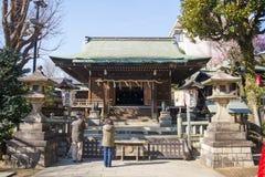 UENO, JAPÃO - 19 DE FEVEREIRO DE 2016: Santuário de Gojo Tenjin na paridade de Ueno Foto de Stock Royalty Free
