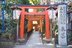 UENO, JAPAN - 19. FEBRUAR 2016: Torii-Tür-Tunneltor zu Goj Lizenzfreies Stockfoto