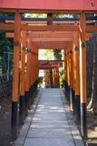 UENO, JAPAN - FEBRUARI 19, 2016: De tunnelpoort van Toriideuren aan Goj Royalty-vrije Stock Foto