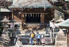 UENO, JAPAN - FEBRUARI 19, 2016: Het heiligdom van Gojotenjin bij Ueno-pari Royalty-vrije Stock Afbeelding
