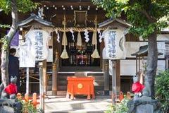 UENO, JAPAN - FEBRUARY 19, 2016 : Gojo Tenjin shrine at Ueno par stock images