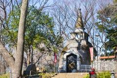 UENO, JAPAN - FEBRUARY 19, 2016 : Old pagoda at Ueno park Stock Photo