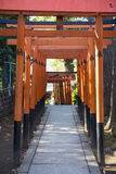 UENO, JAPAN - FEBRUARY 19, 2016 : Torii doors tunnel gate to Goj Royalty Free Stock Photo