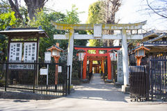 UENO, JAPAN - FEBRUARY 19, 2016 : Torii doors tunnel gate to Goj Royalty Free Stock Photos
