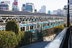 UENO, JAPAN - FEBRUARY 18, 2016 : The train at Ueno railway stat royalty free stock images