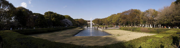 Ueno park. In Ueno park there is a vast garden of great beauty Royalty Free Stock Photos