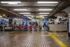 Ueno train station. Tokyo, Japan - April 30, 2016: Interior of Ueno train station. Ueno is best known as the home of Ueno Park and the Tokyo National museum Stock Photos