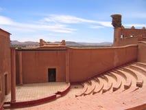Äußere alte Theaterhalle Stockfoto
