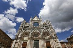Äußere und Details von Siena-Kathedrale, Siena, Italien Lizenzfreies Stockfoto