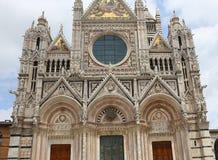 Äußere und Details von Siena-Kathedrale, Siena, Italien Lizenzfreie Stockfotografie