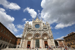 Äußere und Details von Siena-Kathedrale, Siena, Italien Stockfotos
