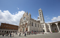Äußere und Details von Siena-Kathedrale, Siena, Italien Lizenzfreies Stockbild