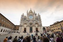 Äußere und Details von Siena-Kathedrale, Siena, Italien Stockbild