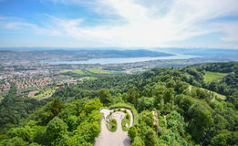 Uetliberg小山,瑞士苏黎士 库存图片